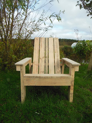 adirondack chair, garden DIY, pallet wood