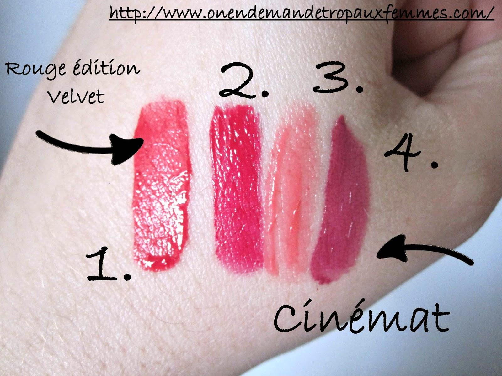 swatch rouge velvet bourjois cinemat agnès b.