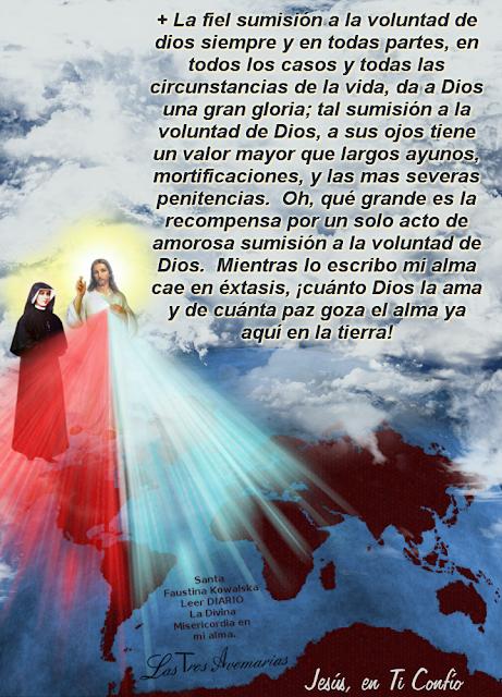 la fiel sumision a la voluntad de Dios da paz y alegria
