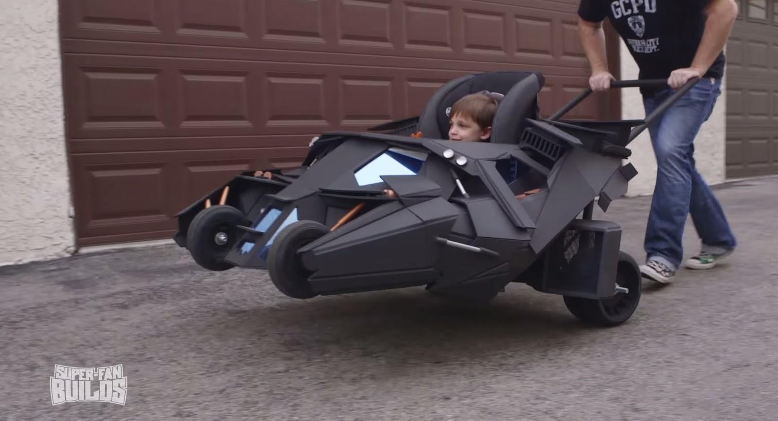 Batmobile Tumbler Baby Stroller Is Beyond Wicked W Video
