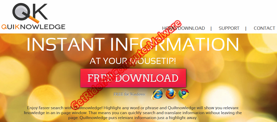 Get Rid of All Computer Malware: How to Remove Quiknowledge Adware
