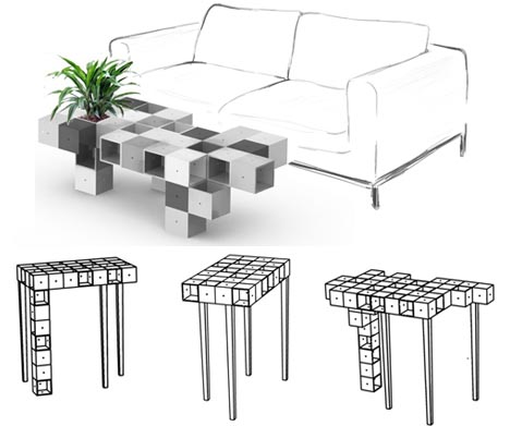 Lienzoelectronico table design for Modular table design