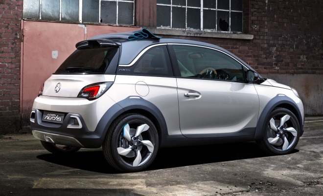 Vauxhall Adam Rocks rear side view