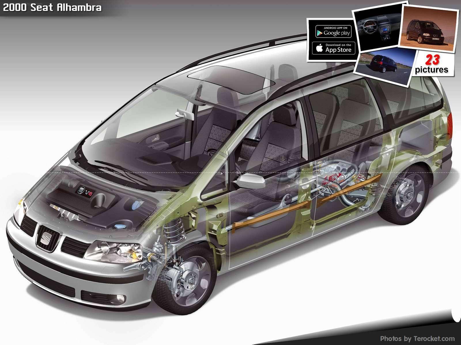 Hình ảnh xe ô tô Seat Alhambra 2000 & nội ngoại thất