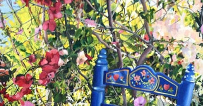 Pinturas cuadros lienzos cuadros con jard n y flores - Jardines y plantas ...