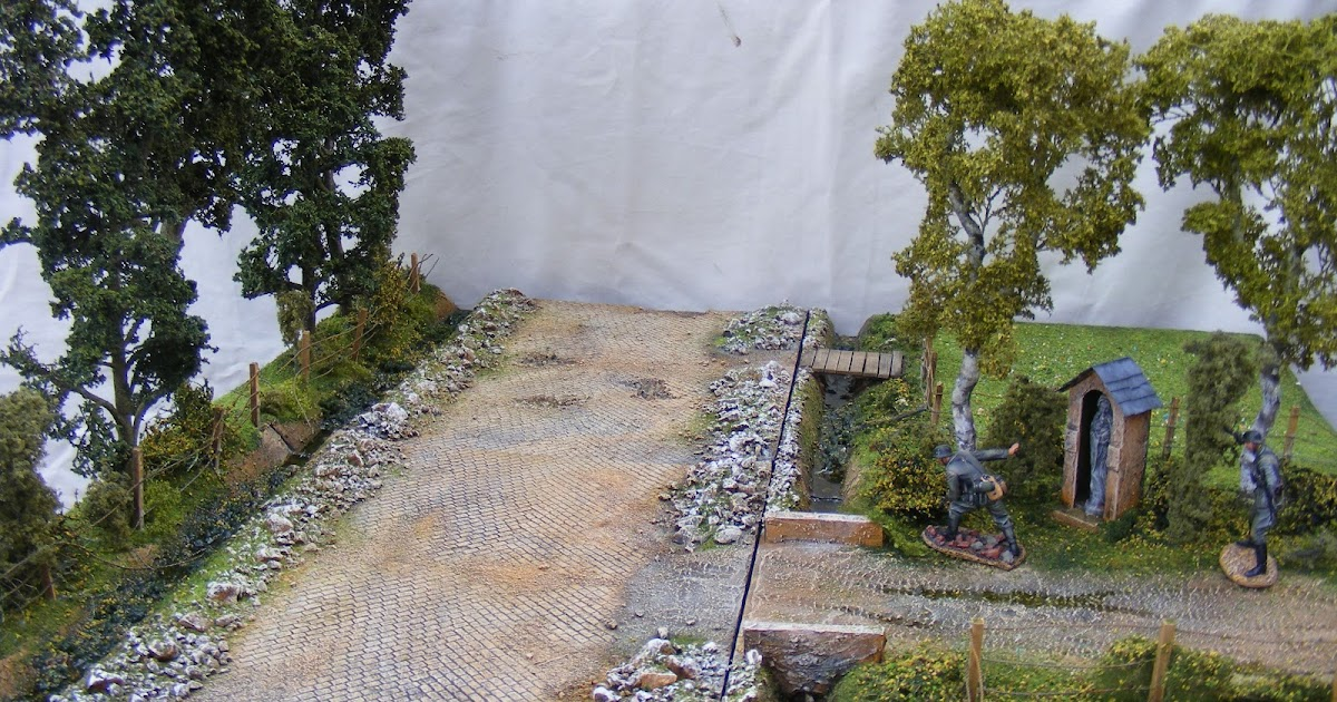 Terrain And Toy Soldiers Normandy Diorama