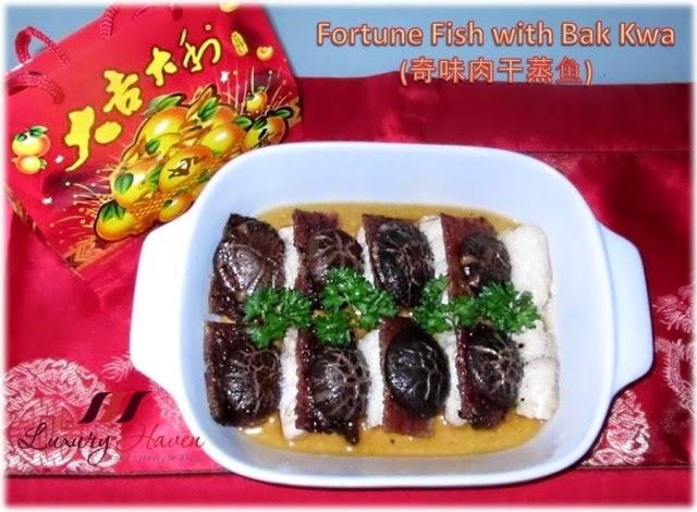 chinese new year bak kwa fortune fish recipe