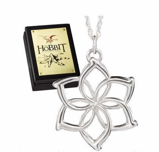 Flor Galadriel Colgante el Hobbit plata de ley
