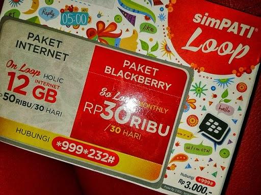perdana paket bb simpati loop