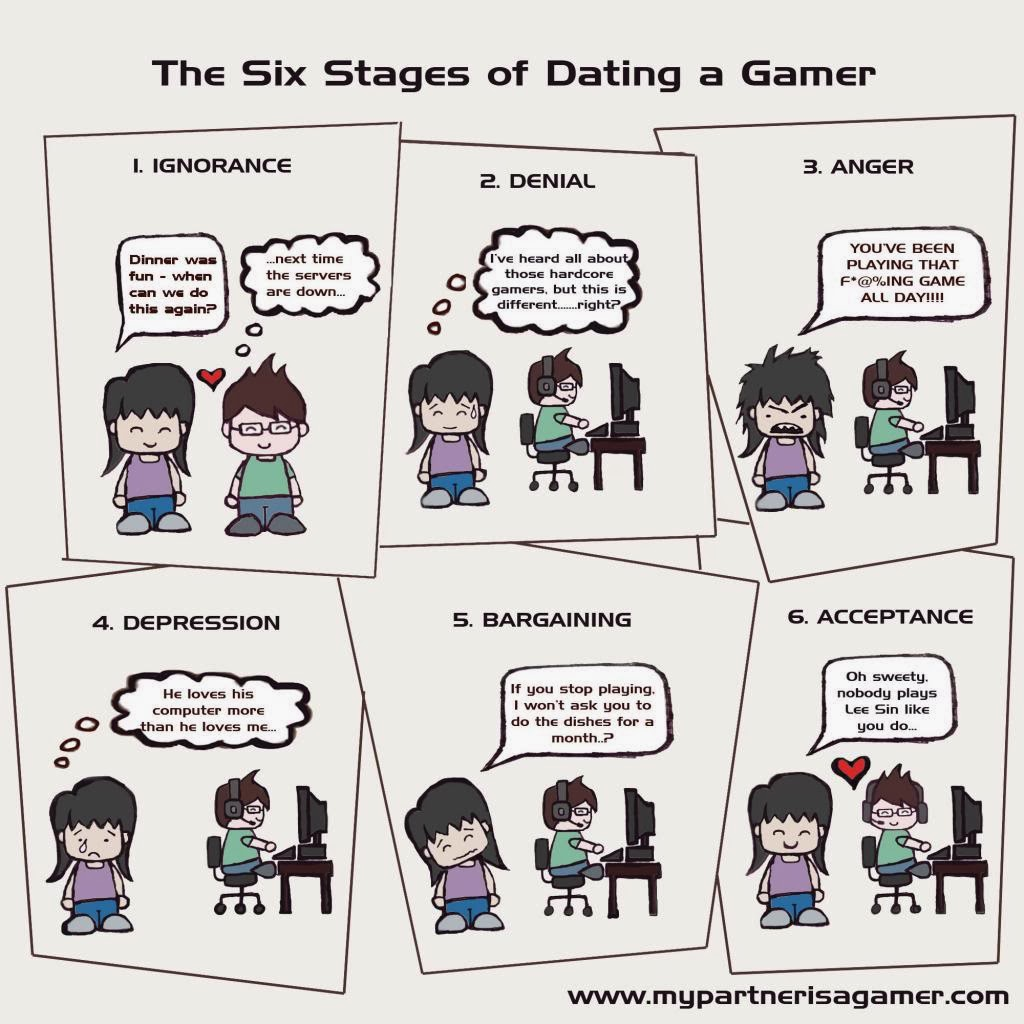 Stages of dating a gamer