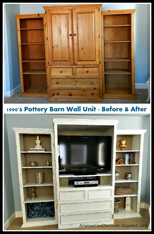 Pottery Barn Wall Unit Makeover