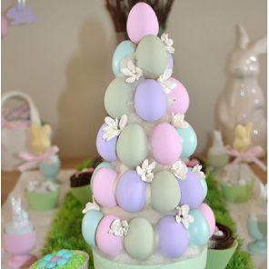 Egg topiary tree by Torie Jayne