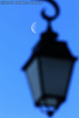 lampadaire Lune ciel Blandy-les-Tours Seine-et-Marne