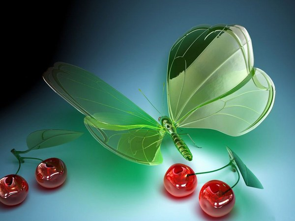3D HD Wallpaper of Beautiful Butterfly