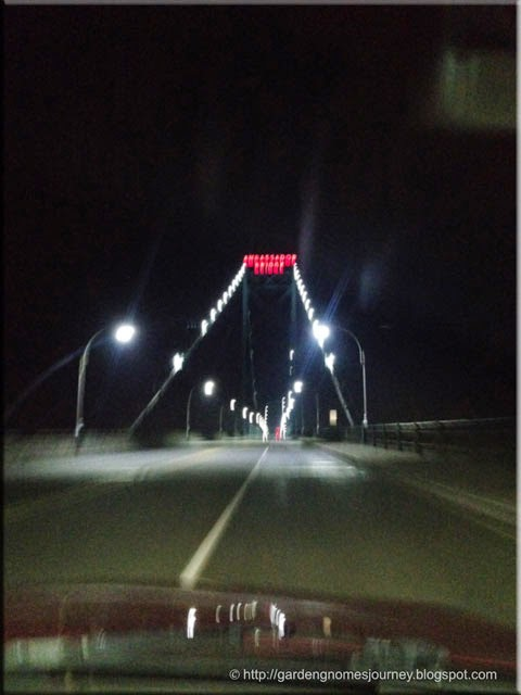 approaching Ambassador Bridge from the US side