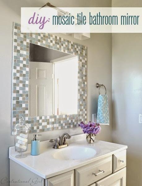 Decoracion De Baños Facilisimo:DIY Espejo de mosaico para el cuarto de baño Decoración / Cuartos de