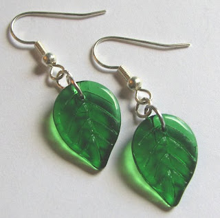 Green Birch Earrings
