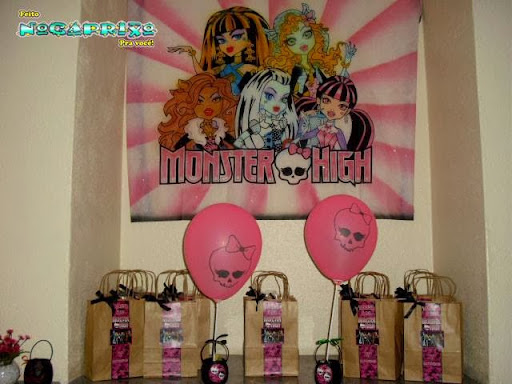 Sacolinhas Kraft Natural Personalizada - Monster High