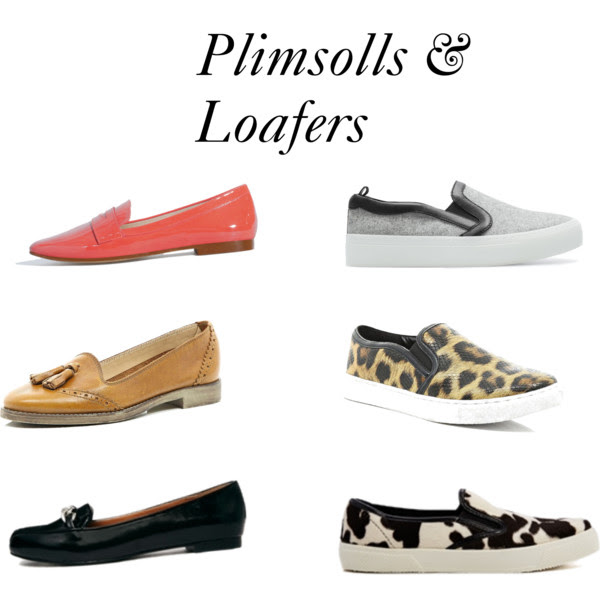 Plimsolls and loafers
