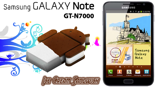 Samsung Galaxy Note Ice Cream Sandwich Firmware update