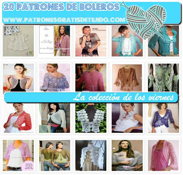 20 patrones de boleros tejidos gratis
