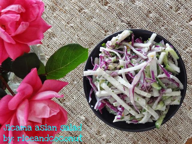 Rice and Coconut: Jicama asian salad