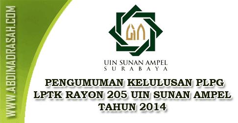 Kelulusan PLPG 2014 UIN Sunan Ampel Surabaya
