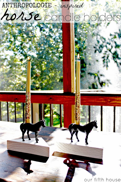 Anthropologie Inspired Horse Candle Holders