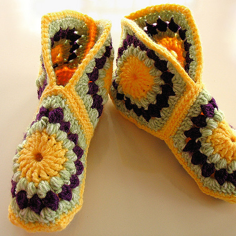 Hexagon Boot Slippers