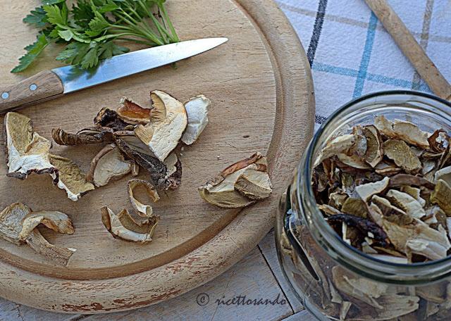 funghi porcini essicati e qualche notizia