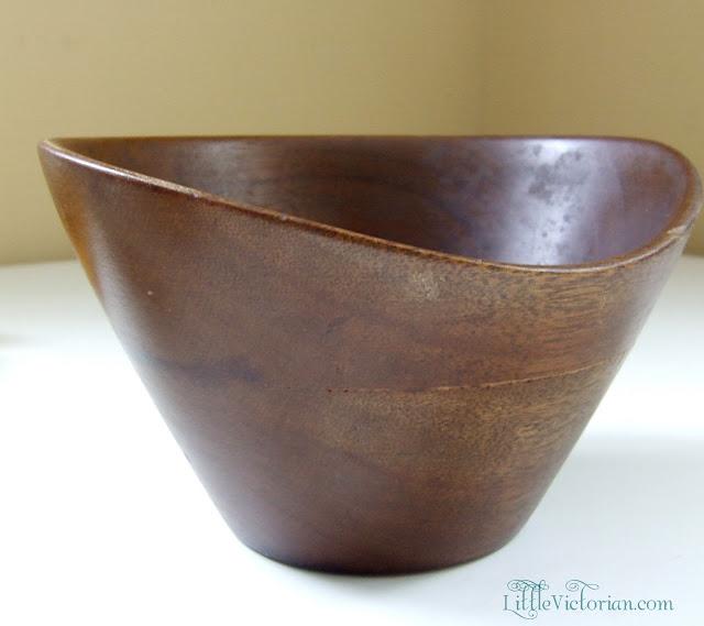 mahogany vintage wooden bowl