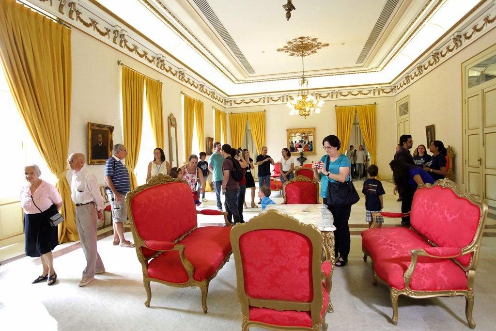 Salão Nobre -  Palácio Guanabara no Rio é aberto para visitação guiada