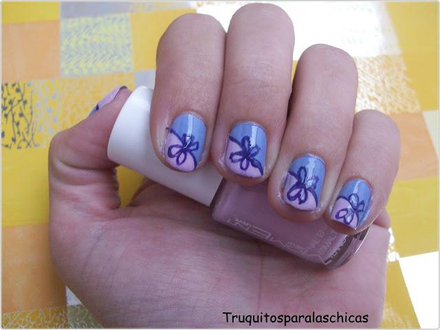 manicura lazo facil