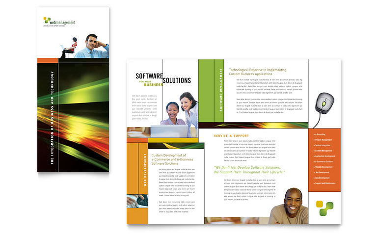 Brochure samples pics brochure microsoft word template for Template word brochure