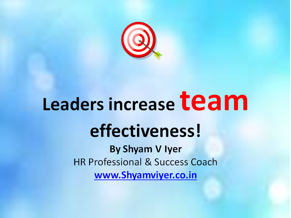 how teams can increase effectivness Using belbin's leadership role to improve team effectiveness: an empirical investigation sallie m henry and k todd stevens department of computer science.
