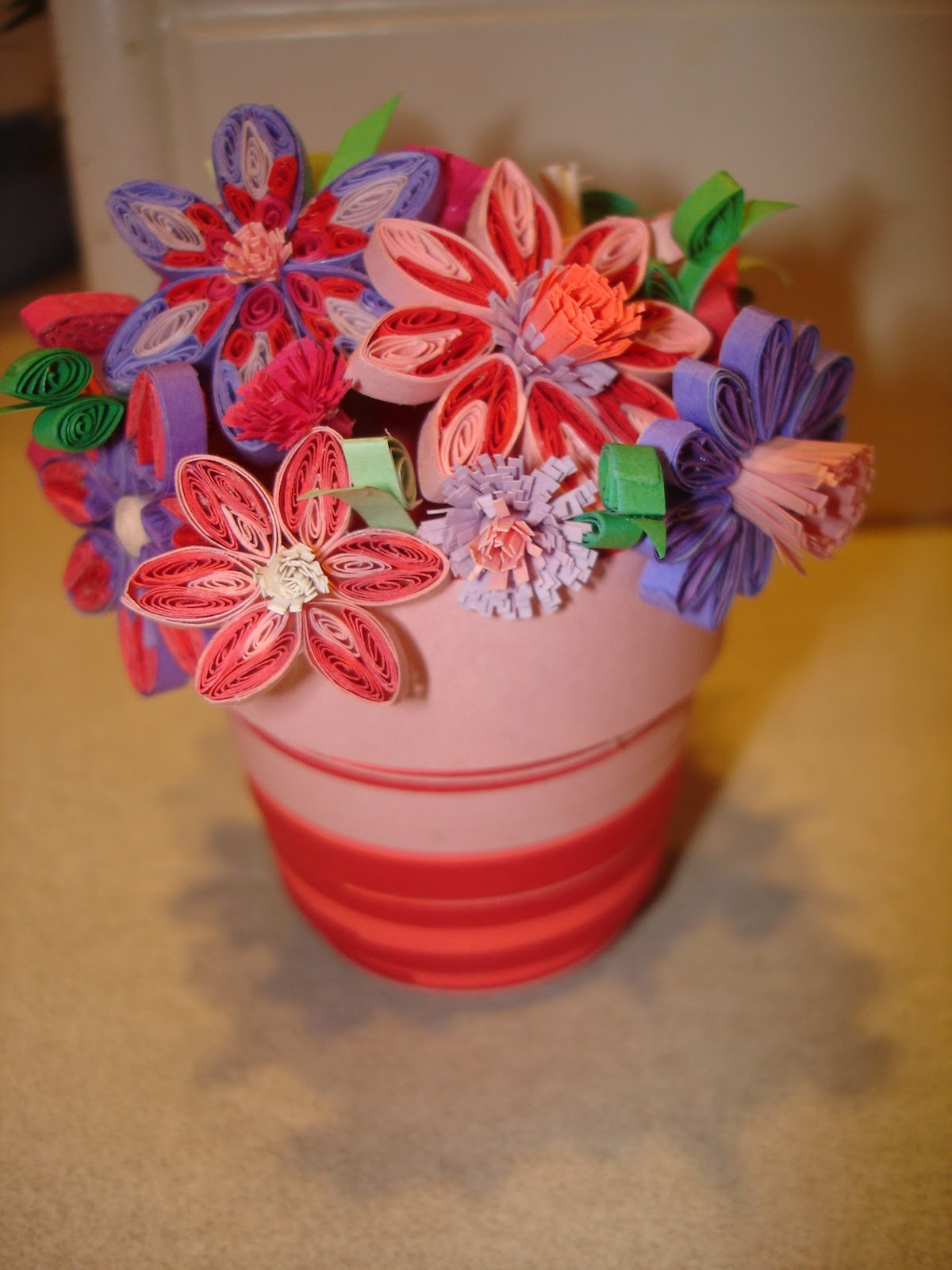 Another 3D Quilled Giant Pot