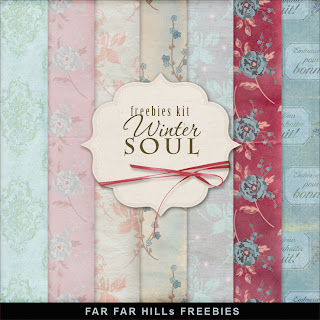 Freebies Kit of Backgrounds - Winter Soul