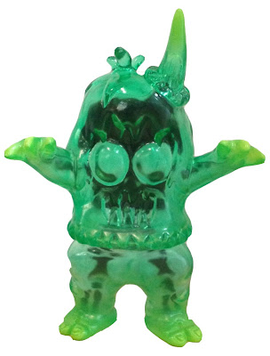 Designer Con 2012 Exclusive Green X-Ray Ugly Unicorn Vinyl Figure by Rampage Toys