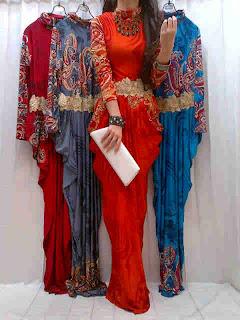 Gamis Batik Dubai fit to L