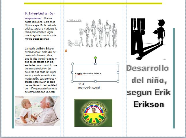 Desarrolo Psicosocial Del Niño Segun Erick Ericson Teoria