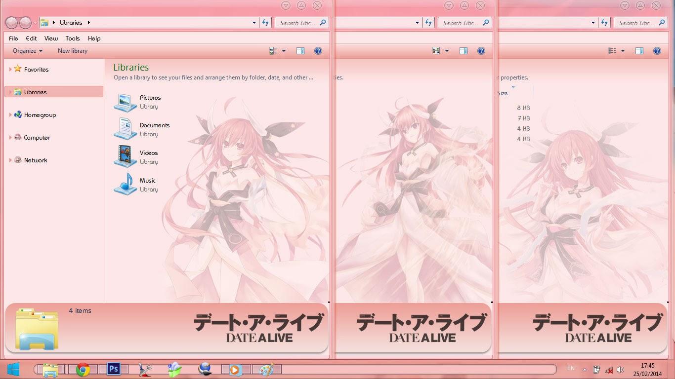 [Theme Win 7] Itsuka Kotori V2 By Bashkara Image 3 - Suck-Style