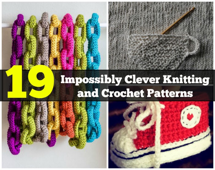19 Impossibly Clever Knitting And Crochet Patterns - DIY ...