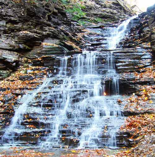 Eternal Flame Falls in Shale Creek Preserve, U.S