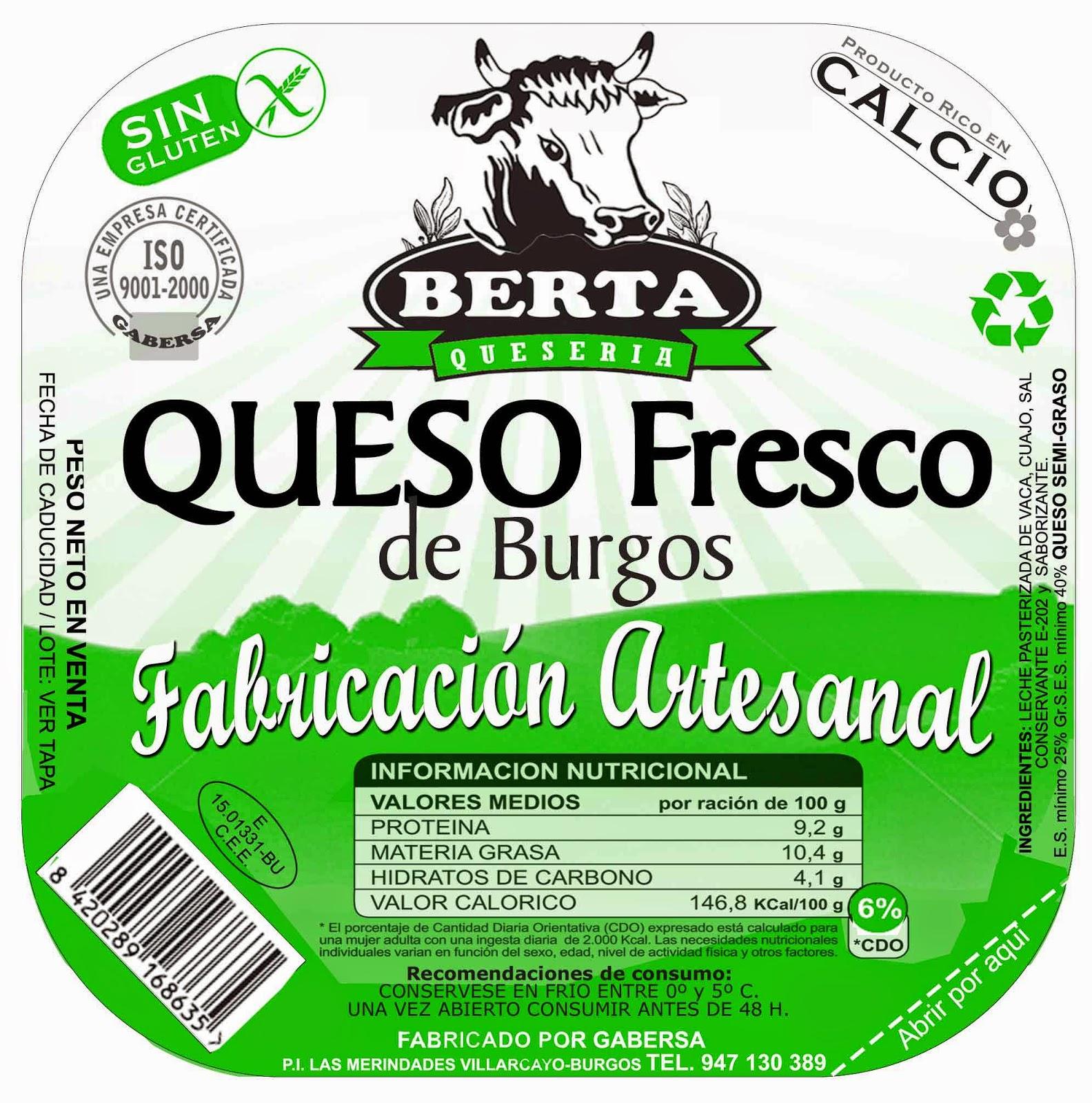Ricardo dise o etiquetas queso berta for Diseno de etiquetas
