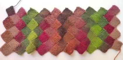 sciarpa scaldacollo lana maglia entrelac