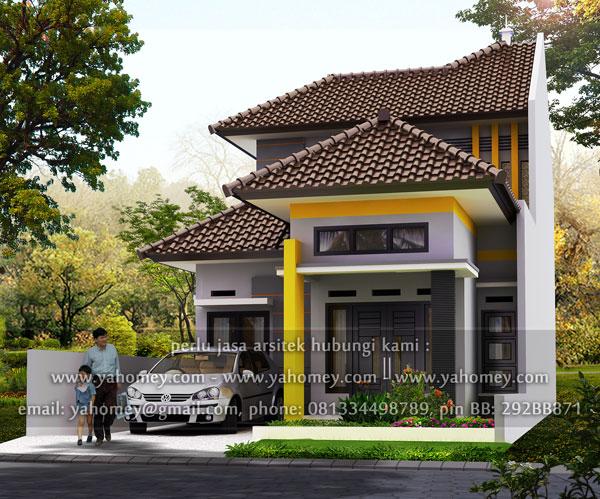 seputar dunia rumah desain rumah 1 5 lantai di lahan 136 m2