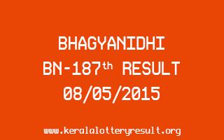 BHAGYANIDHI BN 187 Lottery Result 8-5-2015