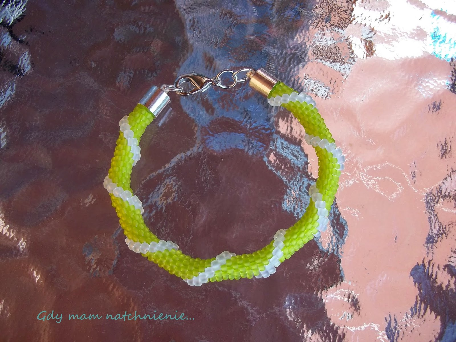 beaded rope bracelet spiral