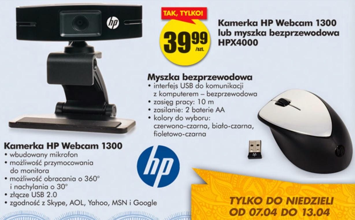 Kamera HP Webcam 1300 z Biedronki ulotka