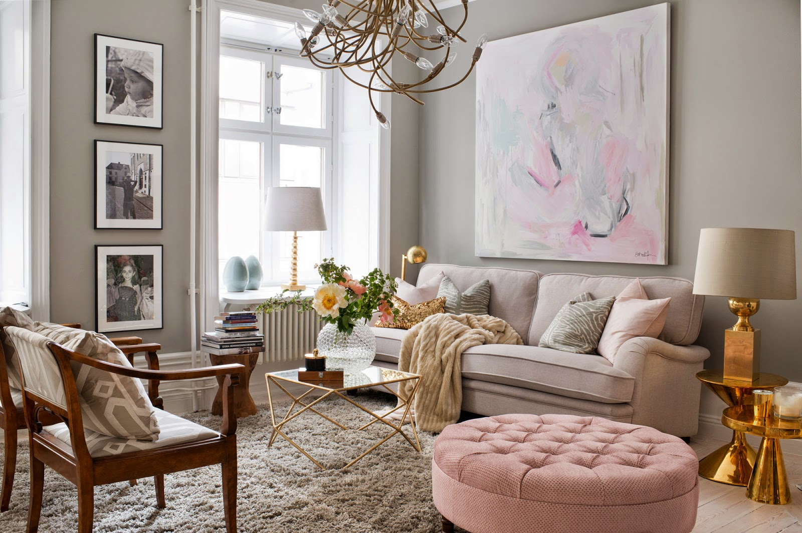 This beautiful home belongs to swedish interior designer sophia björnsdotter in my opinion the pink grey color combination is the percfect choice